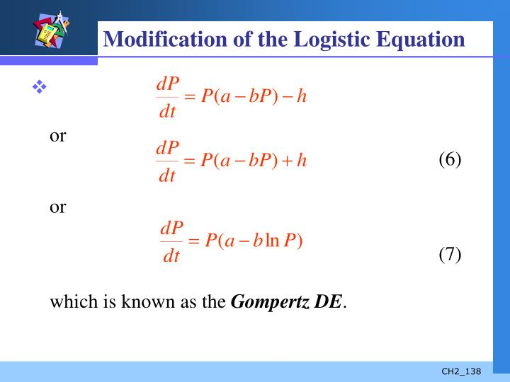 Modification of the Logistic Equation