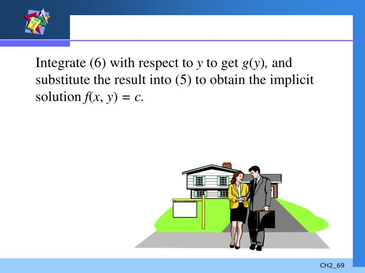 Integrate (6) with respect to