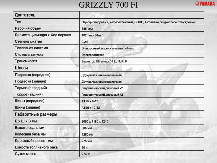 GRIZZLY 700 FI