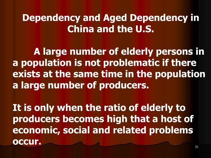 Dependency and Aged Dependency in China and the U.S.