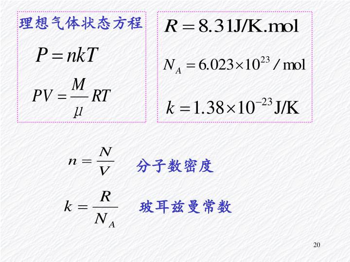 理想气体状态方程