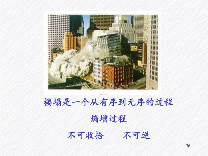 楼塌是一个从有序到无序的过程