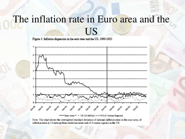 The inflation rate in Euro area and the US