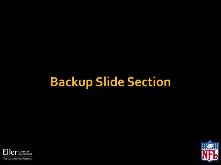 Backup Slide Section