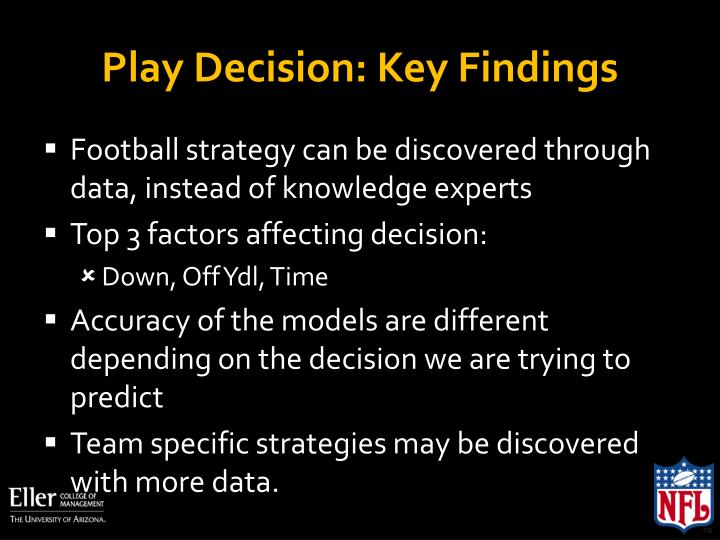 Play Decision: Key Findings