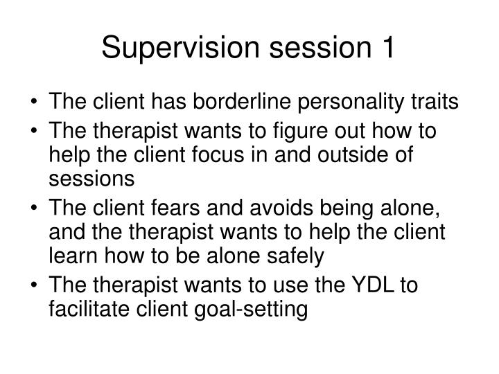 Supervision session 1