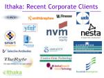 ithaka recent corporate clients