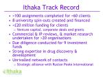 ithaka track record