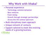 why work with ithaka