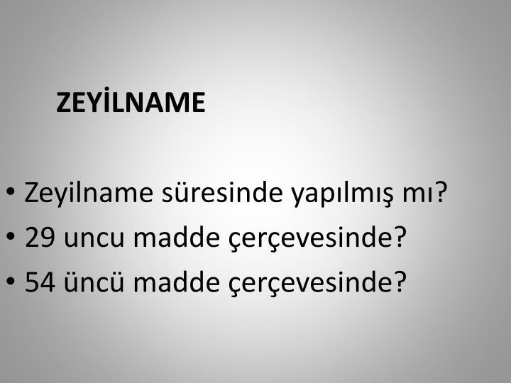 ZEYİLNAME
