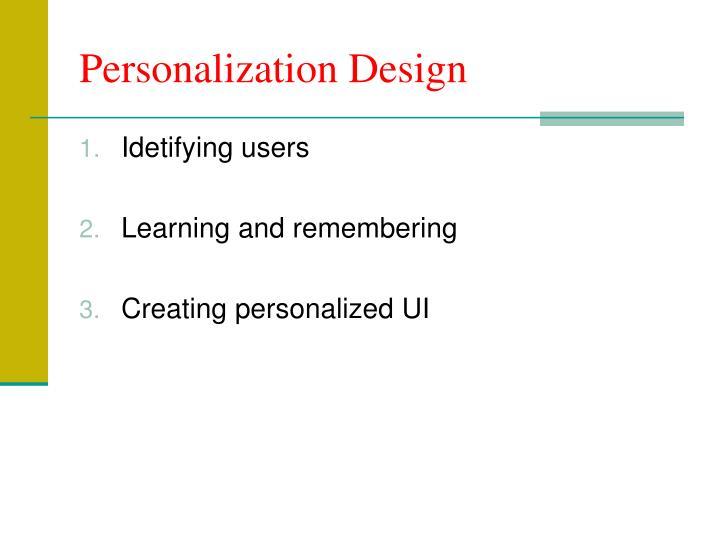Personalization Design