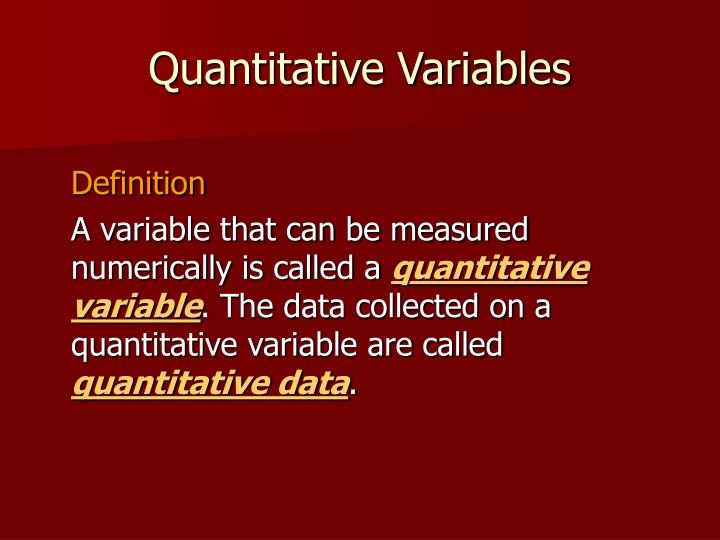 Quantitative Variables