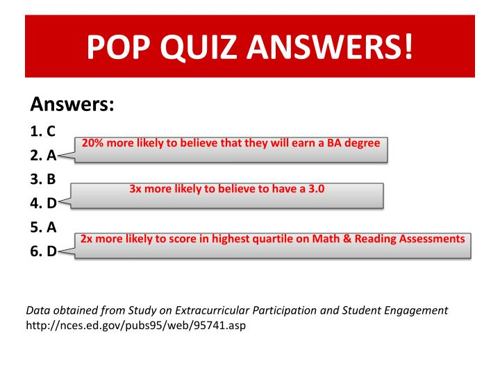 POP QUIZ ANSWERS!