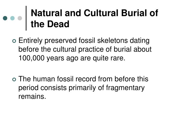 Natural and Cultural Burial of the Dead