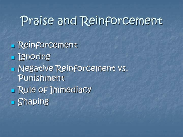 Praise and Reinforcement