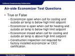 air side economizer test questions