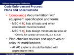 code enforcement process plans and specifications