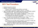 dcv test procedure