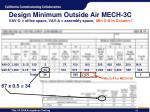 design minimum outside air mech 3c vav o office space vav a assembly space min o a in column i