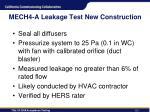 mech4 a leakage test new construction