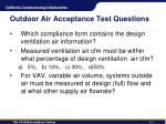 outdoor air acceptance test questions