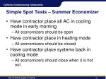 simple spot tests summer economizer