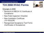 t24 2008 hvac forms