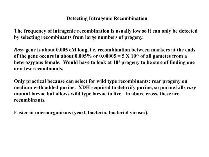 Detecting Intragenic Recombination