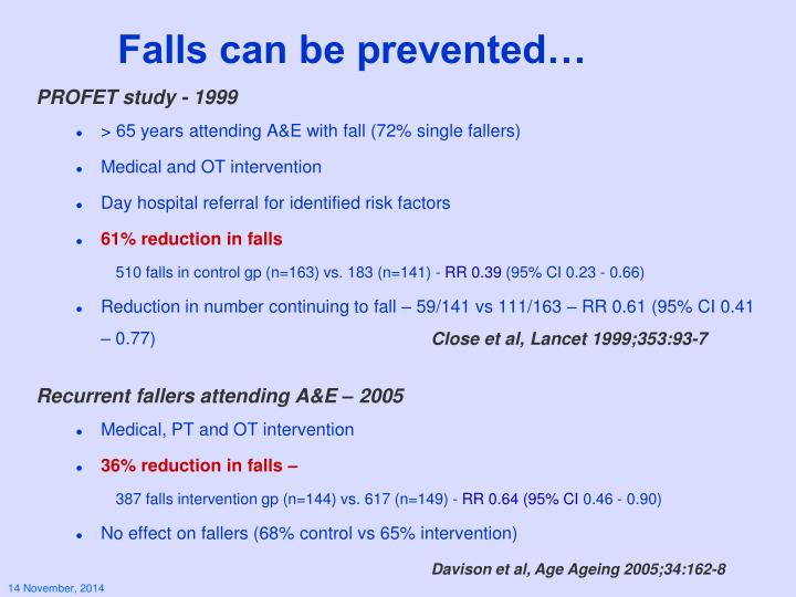 Falls can be prevented…