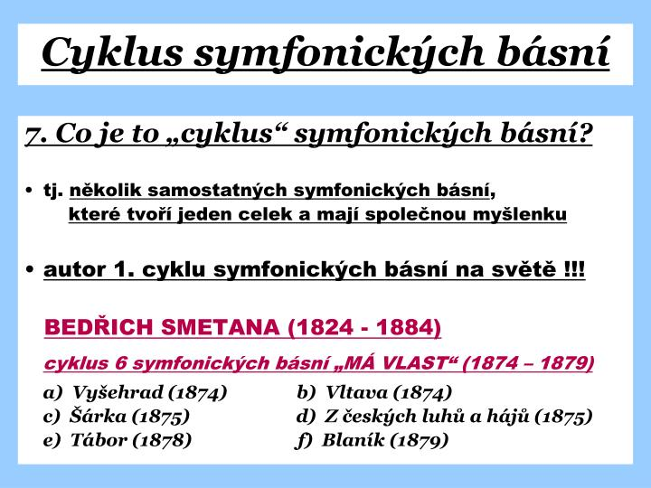 Cyklus symfonických básní