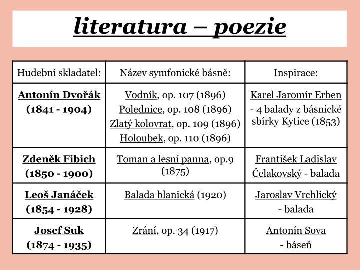 literatura – poezie