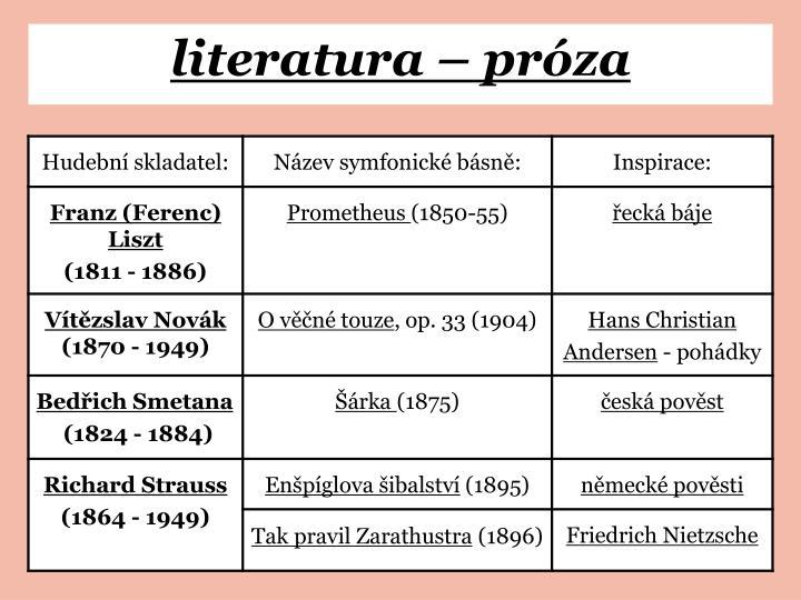 literatura – próza