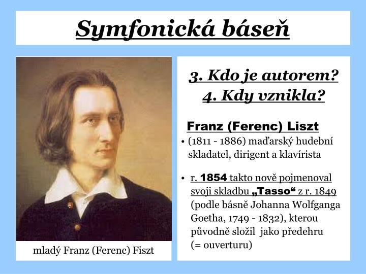 mladý Franz (Ferenc) Fiszt