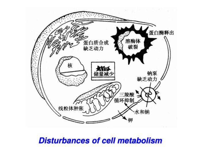 Disturbances of cell metabolism