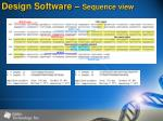 design software sequence view