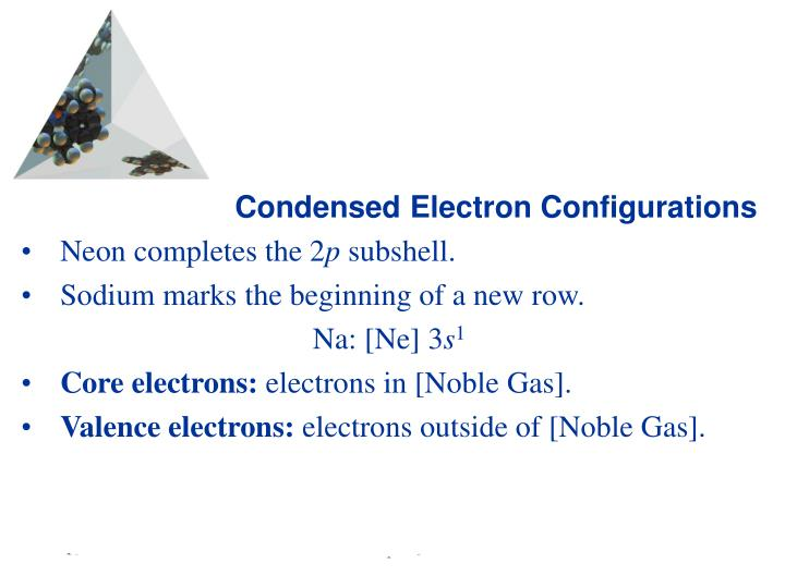 Condensed Electron Configurations