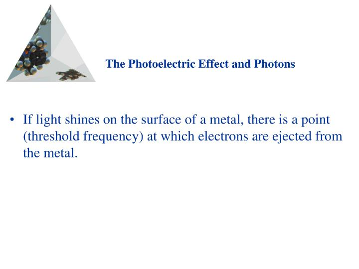 The Photoelectric Effect and Photons