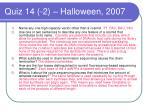 quiz 14 2 halloween 2007