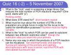 quiz 16 2 5 november 2007