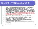 quiz 20 19 november 2007