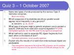 quiz 3 1 october 2007
