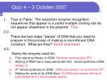quiz 4 3 october 2007