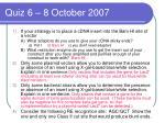 quiz 6 8 october 2007