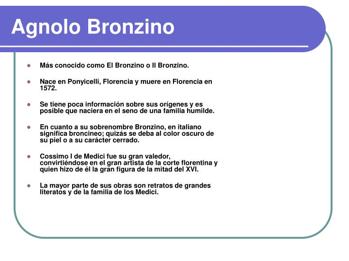Agnolo Bronzino