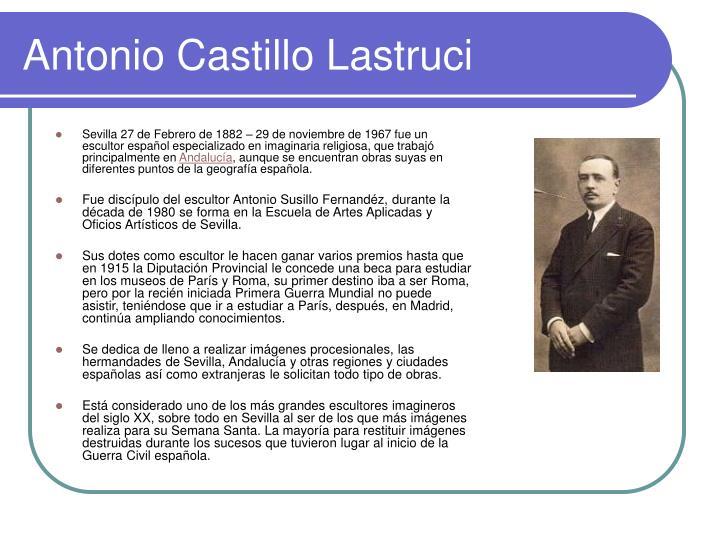 Antonio Castillo Lastruci