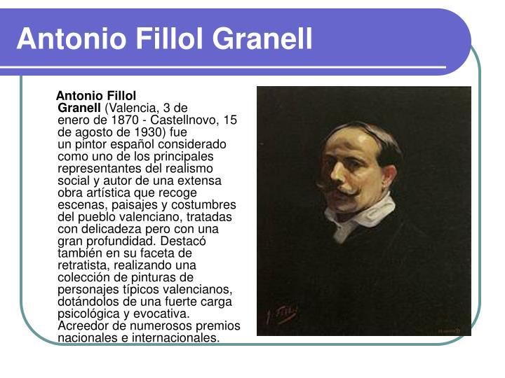 Antonio Fillol Granell