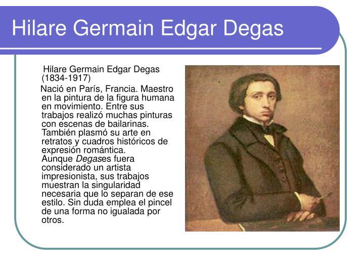 Hilare Germain Edgar Degas