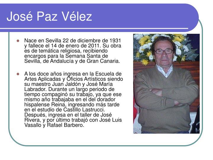 José Paz Vélez