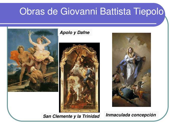 Obras de Giovanni Battista Tiepolo