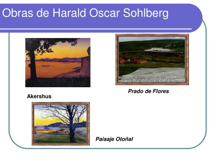 Obras de Harald Oscar Sohlberg